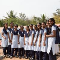 Image of female schoolchildren for solar powered observatory case study